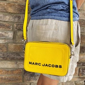 Marc Jacobs The Box Yellow Leather Crossbody Bag